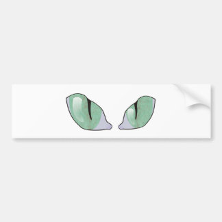Cat Eyes Car Bumper Sticker
