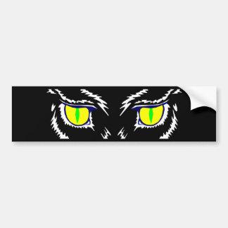 cat eyes cat eyes bumper sticker