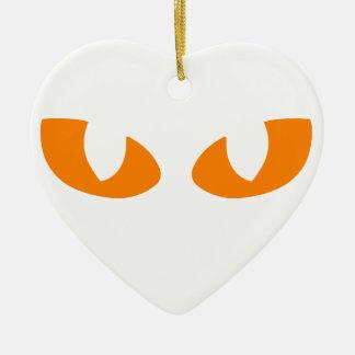 Cat Eyes Ceramic Heart Decoration