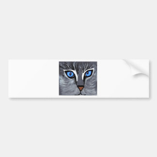cat eyes gorgeous blue bumper stickers