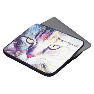 Cat eyes laptop sleeve
