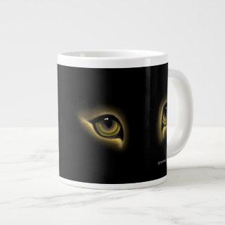 CAT EYES MUG, YEUX DE CHAT TASSE LARGE COFFEE MUG