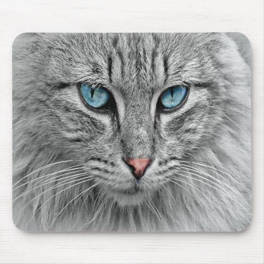 Cat face close-up, custom photo mouse pad