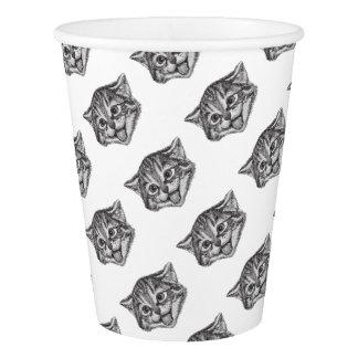 Cat face cute paper cup