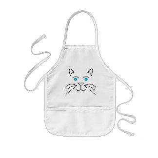 Cat face kids apron