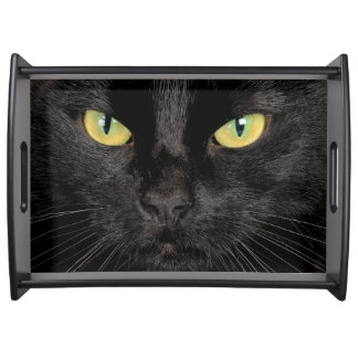 Cat face serving tray