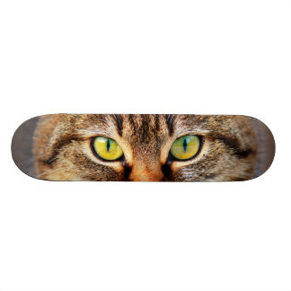 Cat face 21.3 cm mini skateboard deck