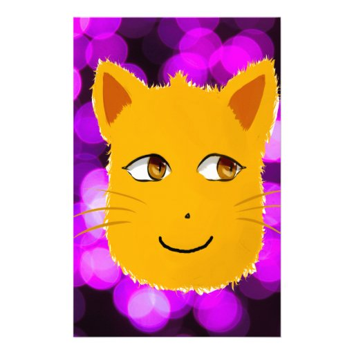 Cat Face Personalized Stationery