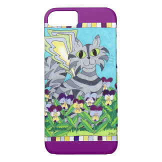 Cat Fairy with Pansies iPhone 7 Case