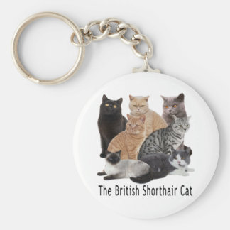 Cat Family British Shorthair Key Ring