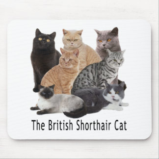 Cat Family British Shorthair Mouse Pad