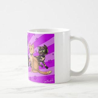 Cat Family Basic White Mug