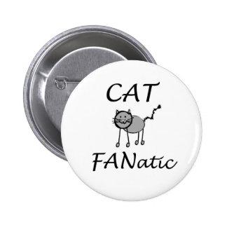 Cat Fanatic 6 Cm Round Badge