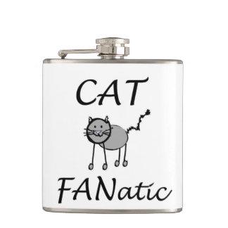 Cat fanatic hip flask