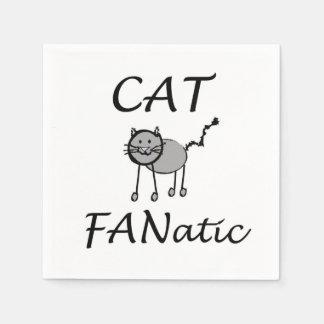 Cat Fanatic Paper Napkins
