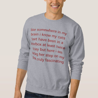 cat feet sweatshirt