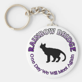 CAT FELINE RAINBOW BRIDGE KEYCHAIN