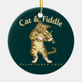 Cat & Fiddle Christmas Ornament