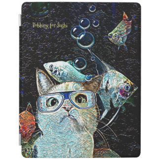 Cat Fish Sushi Funny Vertical iPad Smart Cover iPad Cover