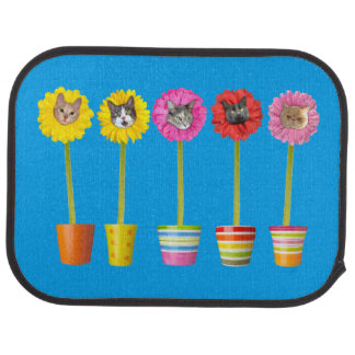 """Cat Flower"" Garden LOL Car Mats (Rear) (set of 2)"