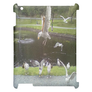 Cat flying a Seagull iPad Cover