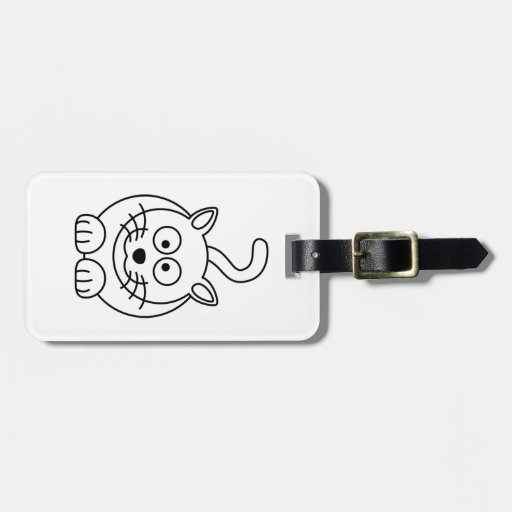 Cat fofo tag for bags