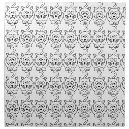 Cat fofo cloth napkin