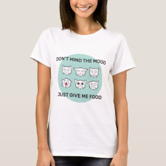 Cat Food Mood Women Illustrated Top
