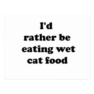cat food postcard