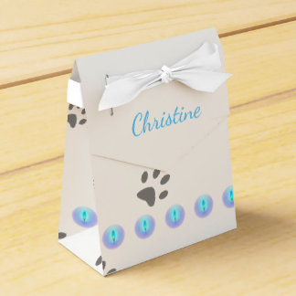 Cat Footprints Favour Box