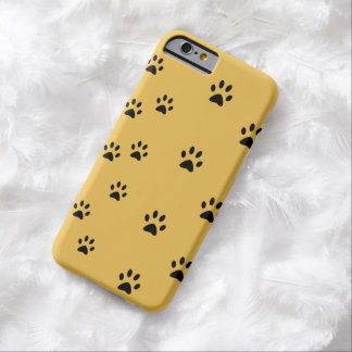 Cat Footprints Yellow Barely There iPhone 6 Case