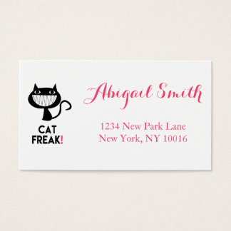Cat Freak! Fun Business Cards