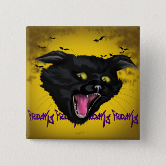 CAT FRIDAY 13  Button Square Button