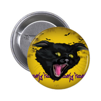CAT FRIDAY 13  Button Standard, 2¼ Inch