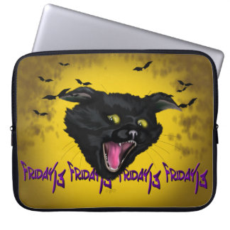 "CAT FRIDAY 13 Electronics Bag 15"" Laptop Sleeves"