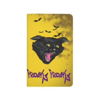 CAT FRIDAY 13 HALLOWEEN  Pocket Journal Blank