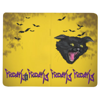 CAT FRIDAY 13 HALLOWEEN  Pocket Journal Lined