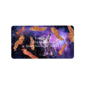 Cat Frying Bacon With Eye Laser Address Label