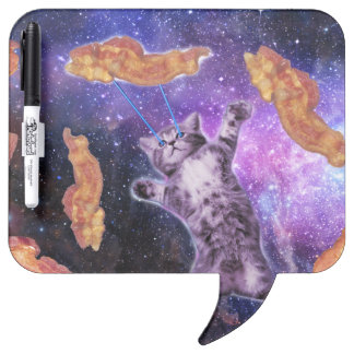 Cat Frying Bacon With Eye Laser Dry Erase Board