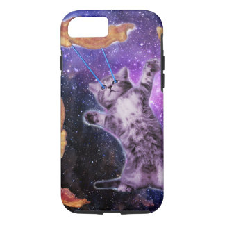 Cat Frying Bacon With Eye Laser iPhone 7 Case