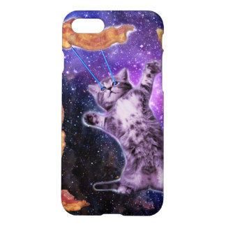 Cat Frying Bacon With Eye Laser iPhone 8/7 Case