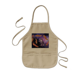 Cat Frying Bacon With Eye Laser Kids Apron