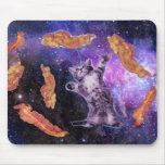 Cat Frying Bacon With Eye Laser Mouse Pad