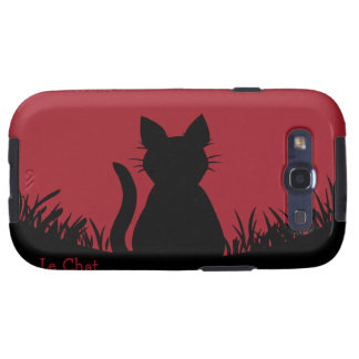 Cat Galaxy Case Personalized Cat Smartphone Case Samsung Galaxy S3 Cover