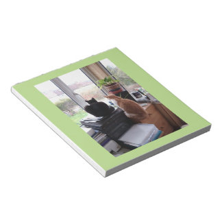 Cat Garden View Photo Notepad