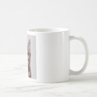 Cat geek basic white mug