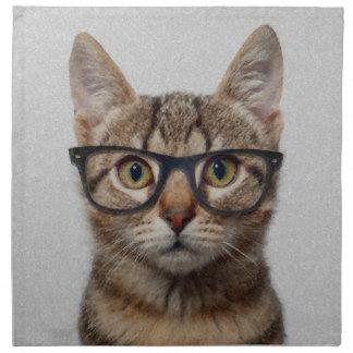 Cat geek napkin