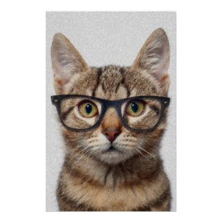 Cat geek personalised stationery