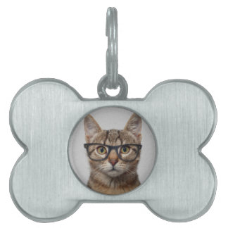 Cat geek pet tag