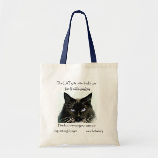 cat gets better health care 1 36 x 36 canvas bags